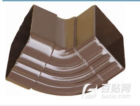索迈建材落水系统 方形雨水管配件弯头/PVC弯头图片