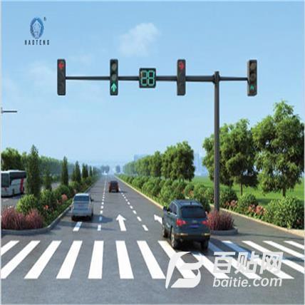 交通信号灯八角监控红绿灯杆 道路指示牌 道路金沙LED指示灯图片