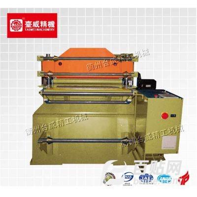 台威高速皮革冲孔机 数控自动打孔机 真皮革塑料箱包加工设备厂家图片