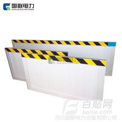 国联电力厂家配电室食品厂铝合金挡鼠板不锈钢防鼠板提示标志门挡图片