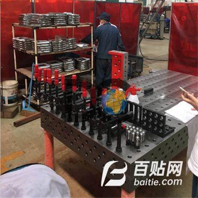 多种规格铸铁焊接柔性平台 专业定制 焊接专用三维平板 厂家直销图片