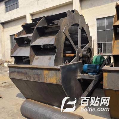 轮斗洗砂机价格常用水洗砂设备移动破碎洗沙设备振动洗石机设备处理图片