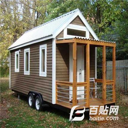 轻钢小房子_独居_可移动_房车_带轮子的房车图片