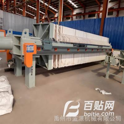 1000型板框压滤机专用于污泥污水等固液分离 处理量大-禹州蓝源机械图片