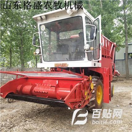 拖拉机带轮式地滚刀玉米秸秆青储机,新款轮式地滚刀青储机图片
