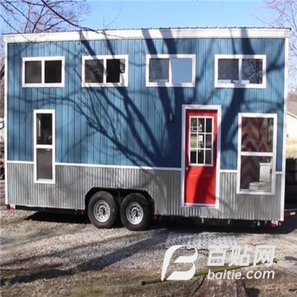 集装箱_可移动_度假_带轮子的房子图片