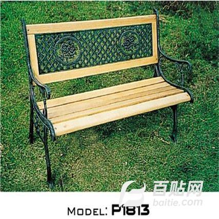 广场休闲长椅 防腐实木椅价格 定制造型图片