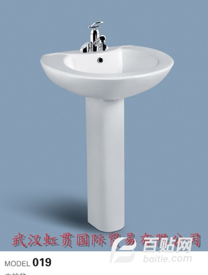蒙娜丽莎卫浴-陶瓷立柱盆图片