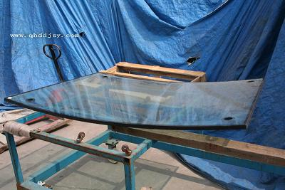 供应8LOWE 12A 8双弯钢中空玻璃图片
