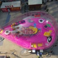充气鲸鱼岛大型欢乐主题水晶宫鲸鱼乐园百万海洋球宝宝池粉萌猪图片