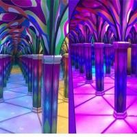 镜子迷宫网红小屋时空隧道图片