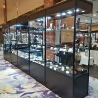 精品柜玻璃折叠展柜租赁图片