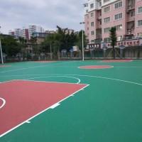 学校丙烯酸球场地坪材料生产施工图片
