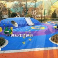 幼儿园EPDM彩色颗粒地坪图片