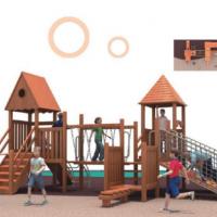 湖南户外大型儿童玩具木质滑滑梯组合幼儿园宝宝游乐设备图片