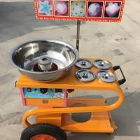 商用小推车彩色棉花糖机,流动摆摊卖棉花糖机价格,电动棉花糖机图片